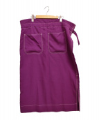.efiLevol(エフィレボル)の古着「18SS Easy Skirt」|パープル