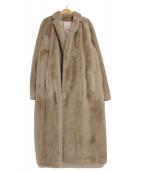 S Max Mara(エスマックスマーラ)の古着「エコファーロングコート」|ライトグレー