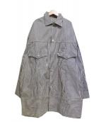 WESTOVERALLS(ウエストオーバーオールズ)の古着「DENIM BIG TRACKER JKT」|ネイビー