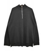 UNITED TOKYO(ユナイテッドトウキョウ)の古着「18G ミラノリブハーフジッププルオーバー」|ブラック