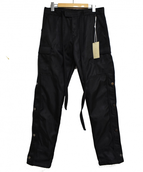 MNML(ミニマル)MNML (ミニマル) SNAP ZIPPER II CARGO PANTS ブラック サイズ:W29の古着・服飾アイテム
