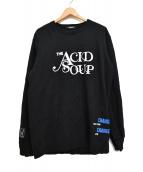 """UNDERCOVER(アンダーカバー)の古着「""""THE ACID SOUP"""" SWEAT SHIRTS」 ブラック"""
