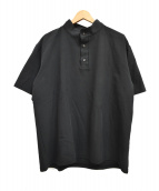 TROVE(トローヴ)の古着「ハイネックポロシャツ」|ブラック