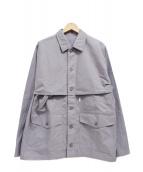 S H × Steven Alan(エス×スティーブンアラン)の古着「MACKINAW SHIRT/マッキーノシャツ」|グレー