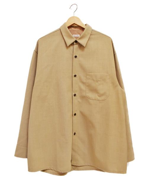STEVEN ALAN(スティーヴンアラン)STEVEN ALAN (スティーヴンアラン) VN/WL TRO SHT/ALL/シャツジャケット ベージュ サイズ:L 20SSの古着・服飾アイテム