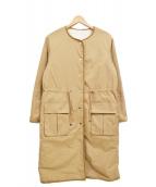 LAISSE PASSE(レッセパッセ)の古着「リバーシブルボアパイルコート」|アイボリー×ベージュ