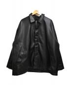 HARE(ハレ)の古着「20AW シンセティックレザーブルゾン」|ブラック