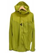 KLATTERMUSEN(クレッタルムーセン)の古着「ナイロンパーカー」|黄緑
