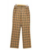 Burberrys(バーバリーズ)の古着「ノバチェックストレートパンツ」|ベージュ