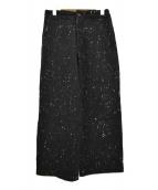 ROBE DE CHAMBRE COMME DES GARC(ローブドシャンブル コムデギャルソン)の古着「ウールネップパンツ」|ブラック