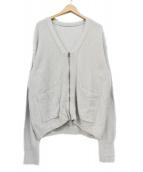 crepuscule(クレプスキュール)の古着「silk cotton zip carde」|ライトグレー
