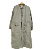 Lois CRAYON(ロイスクレヨン)の古着「ファイヤーマンブルゾンコート」|カーキ