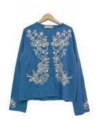 KEITA MARUYAMA(ケイタ マルヤマ)の古着「刺繍カーディガン」|ブルー