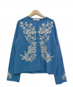 KEITA MARUYAMA(ケイタマルヤマ)の古着「刺繍カーディガン」 ブルー