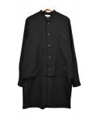 ETHOSENS(エトセンス)の古着「17AW Layer Shirt/レイヤード シャツ」|ブラック