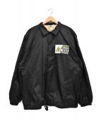 THE BLACK EYE PATCH(ザブラックアイパッチ)の古着「ファーコーチジャケット」|ブラック
