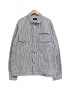 X-LARGE(エクストララージ)の古着「DENIM TRUCKER JACKET」|ホワイト×ネイビー