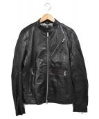 BEAUTY&YOUTH(ビューティーアンドユース)の古着「ラムレザーシングルジャケット」|ブラック