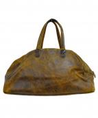 Jas-M.B.(ジャスエムビー)の古着「加工レザーハンドバッグ」|ブラウン