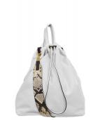 ORSETTO(オルセット)の古着「ナイロンストラップショルダー3」|ホワイト
