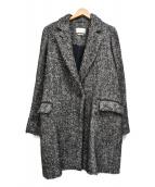ISABEL MARANT ETOILE(イザベルマラン エトワール)の古着「モヘアアルパカ混チェスターコート」|グレー