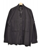 CURLY(カーリー)の古着「スナップ釦ワイドジャケット」|ブラック