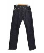 MOMOTARO JEANS(モモタロー ジーンズ)の古着「出陣スリムストレートデニムパンツ」|インディゴ