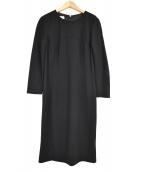 ESCADA(エスカーダ)の古着「長袖ワンピース」 ブラック