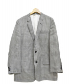HELMUT LANG(ヘルムートラング)の古着「シルクテーラードジャケット」|ホワイト×ブラック