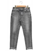 upper hights(アッパーハイツ)の古着「THE STELLA カットオデニムパンツ ダメージジーンズ」|グレー