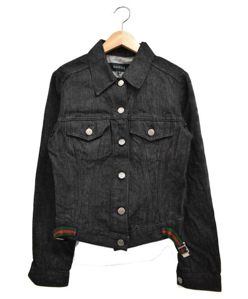 GUCCI(グッチ)GUCCI (グッチ) シェリーラインデニムジャケット/コットン ブラック サイズ:40の古着・服飾アイテム
