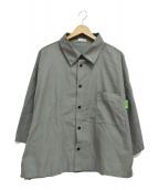 WILLY CHAVARRIA(ウィリーチャバリア)の古着「PIMA COTTON SHIRTS/綿 シャツ」|グレー