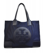 TORY BURCH(トリーバーチ)の古着「ELLA / エラ ナイロントートバッグ」|ネイビー