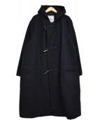 YOHJI YAMAMOTO(ヨウジヤマモト)の古着「IMPER MEABLE ウール混 ロング ダッフルコート」|ブラック