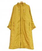 ISSEY MIYAKE FETE(イッセイミヤケフェット)の古着「ナイロンミリタリー パラシュートコート」 イエロー