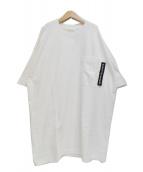 beautiful people(ビューティフルピープル)の古着「18SS コットン ジャージー ビッグT ドレス」|ホワイト