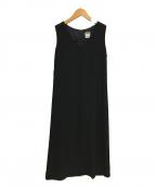 agnes b(アニエスベー)の古着「ノースリーブワンピース」|ブラック