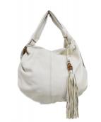 GUCCI(グッチ)の古着「ホーボー バンブー ワンショルダーバッグ」|ホワイト