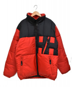 HELLY HANSEN(ヘリーハンセン)の古着「[古着]90's バイカラー 刺繍 ロゴ ダウン ジャケット」|レッド×ブラック