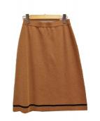 FENDI(フェンディ)の古着「[OLD] ウール ニット 台形 スカート」|ブラウン