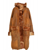 rozen(ローゼン)の古着「リバーシブル ムートンコート」|ブラウン