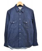 THE NORTH FACE(ザノースフェイス)の古着「ロングスリーブカンタベリーベルズシャツ」 インディゴ
