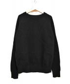 Vincent et Mireille(ヴァンソンエミレイユ)の古着「CREW NECK SWEATER 8GG/畦編み」|ブラック