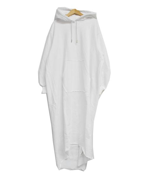 DIESEL(ディーゼル)DIESEL (ディーゼル) ロゴ マキシ フーディ スウェットワンピース ホワイト サイズ:S 未使用品 D-ILSE-TWIST-COPYの古着・服飾アイテム
