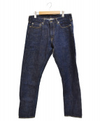 JAPAN BLUE(ジャパンブルー)の古着「セルビッジ プレップ スリム デニムパンツ」 インディゴ
