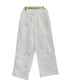FRAMeWORK(フレームワーク)の古着「20AW ワイドチノパンツ」|ホワイト