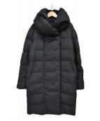 PLST(プラステ)の古着「リボンベルト ダウンコート」|ブラック