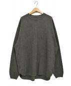 crepuscule(クレプスキュール)の古着「MOSS STITCH 鹿の子編み クルーネックニット」|グレー