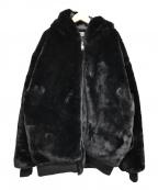 DANKE SCHON(ダンケ シェーン)の古着「ボリュームファーブルゾン」|ブラック