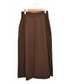 MaxMara(マックスマーラ)の古着「デザイン タック ストレッチ ロング スカート」|ブラウン